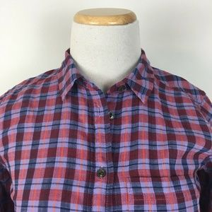 "J.CREW Tops - J.Crew Women's Plaid Button Front ""Boy Shirt"""